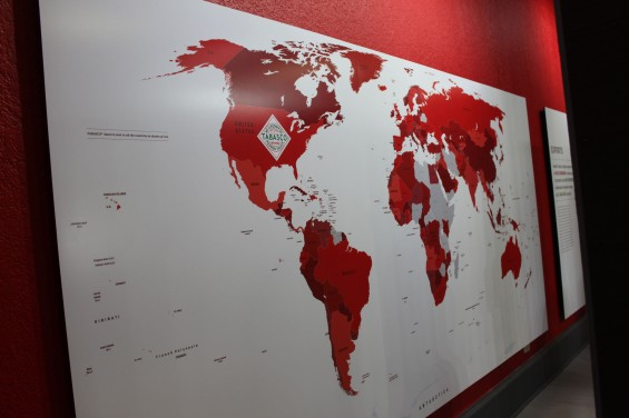 This map shows all the countries they are in. Pretty big in China