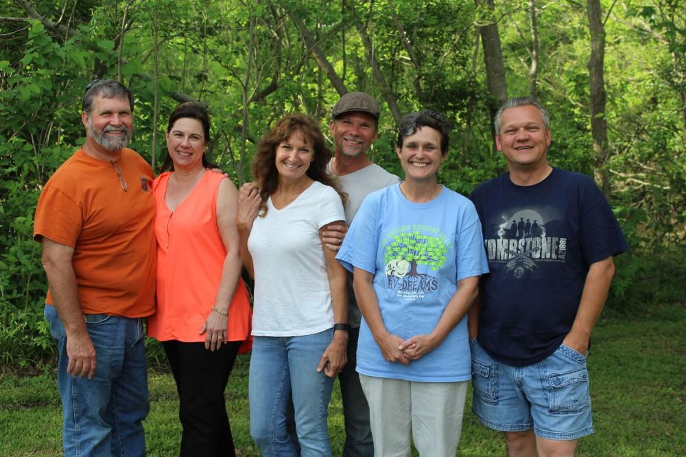 Pat, Bridget, Sharon, David, me, and Lee