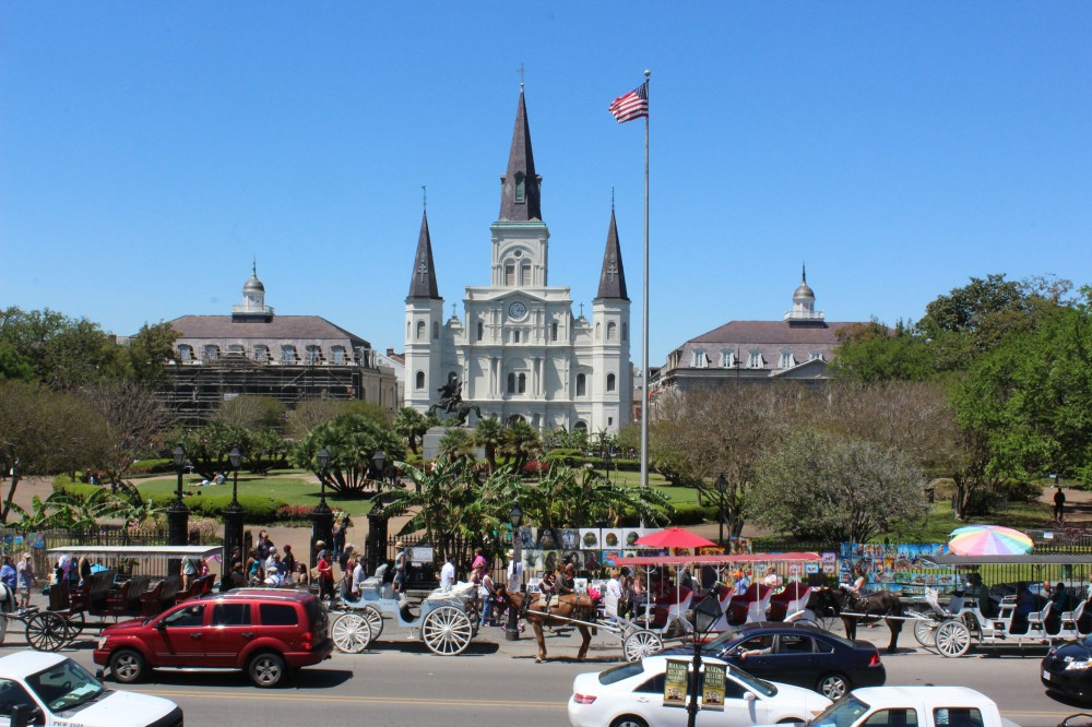 St. Louis Cathedral and the square