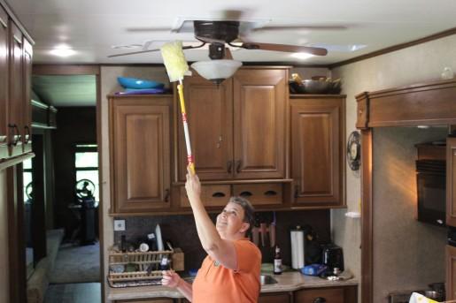 Linda dusting