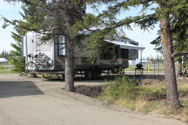 And the campground side view