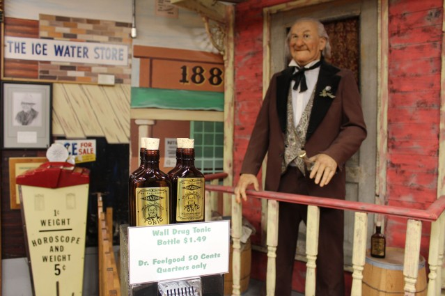 They even had some nice animatronics. Lee tried Dr. Feel Good and he talked us into buying a bottle for $1.50 :)
