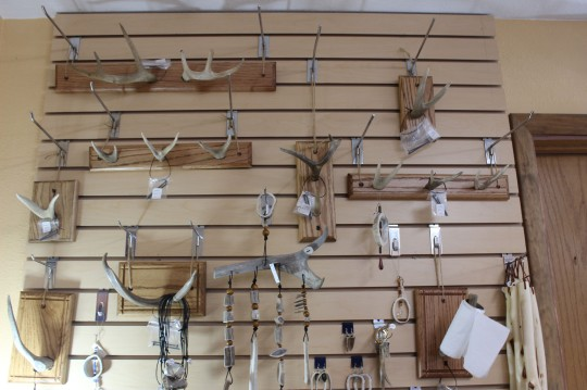 Loved these antler coat and door hangers