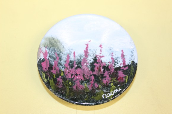 The magnet I decided to purchase was hand painted, but the owner gave it to me as a gift to welcome me to Alaska. So sweet