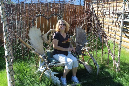 Kelly on a surprisingly comfortable reindeer seat