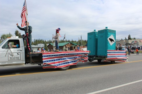 The best float of the day was owned by the local sanitation company