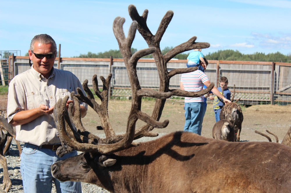 Lee with one of the two big males in the herd