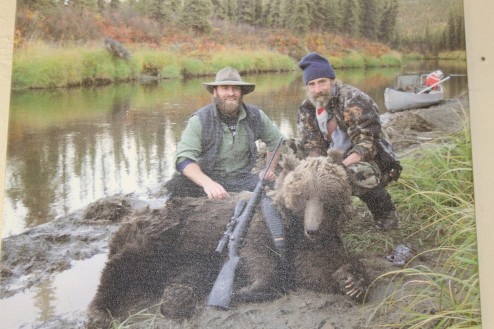 Her husband shot this grizzly close by and always loved the area