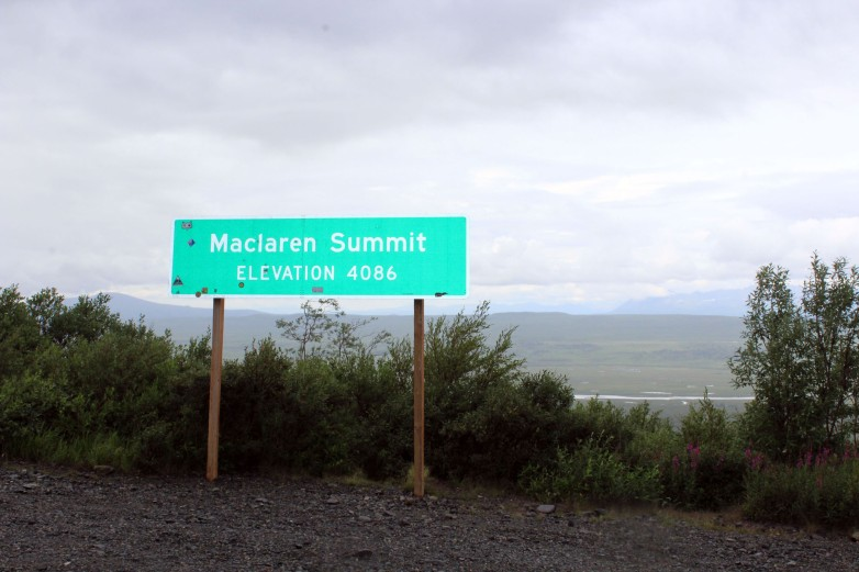 The McLaren Summit is a great place to see the McLaren river and get a panoramic view of the Alaska Range.