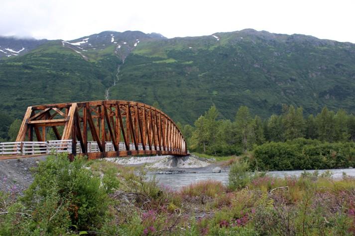First stop along the walk was a beautiful wooden pedestrian bridge