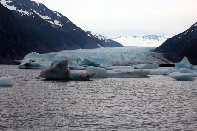 The glacier was massive