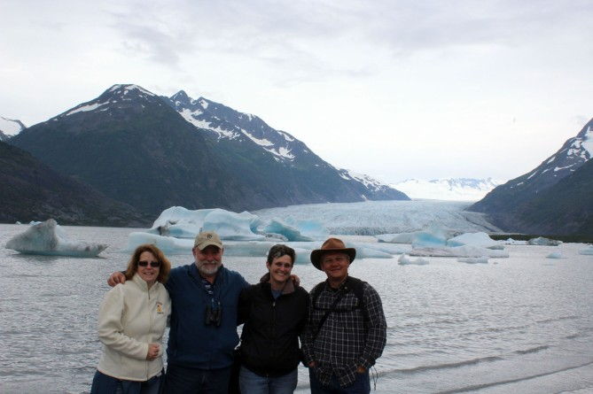 And here we all are at the glacier! Kelly, Bill, me and Lee