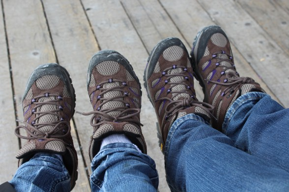 Turns out Kelly and I have the exact same pair of hiking shoes