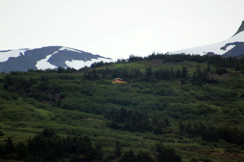 There was also this cool NAtional Forest cabin on the hillside which is accesible only by trail..and yes housekeeping walks the trail to clean them or if more supplies need brought in it's done by helicopter