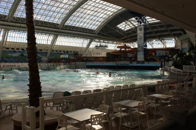 Huge wave pool