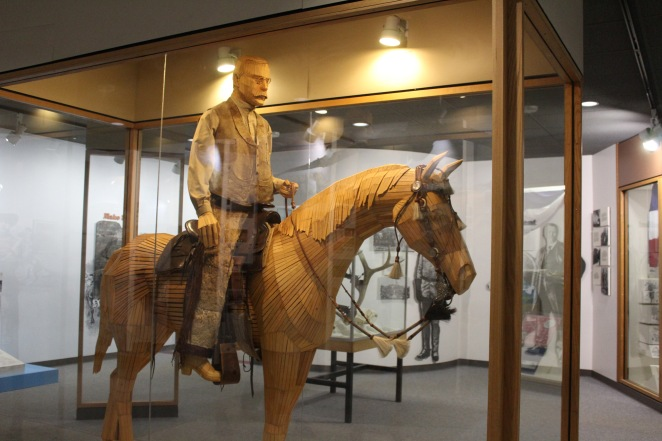 The saddle and horse tack was used by him