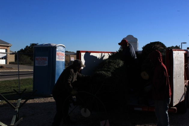 The guys pulling it out of the trailer. Around 250 pounds Greg thought