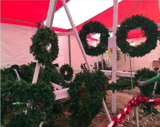 Wreaths (which come in small, medium, and large) and some beautiful garland. We sold 20 feet of it right after it came in