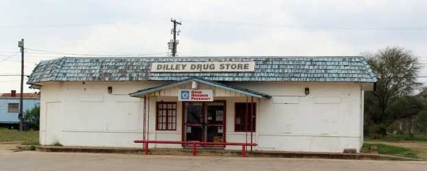The only drug store in town which is going out of business this month.